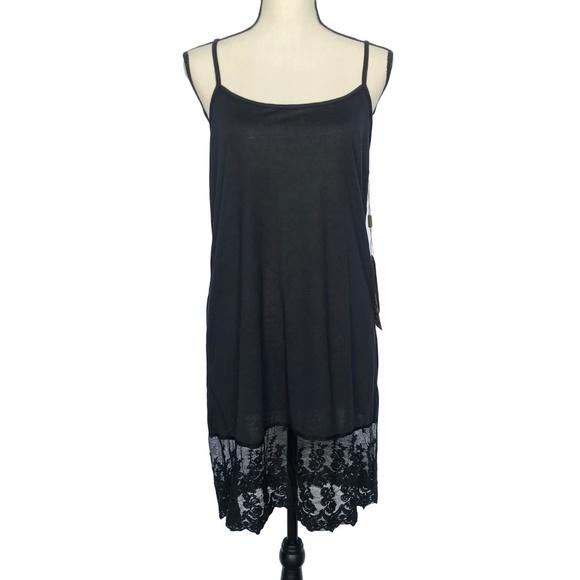 Urban Mango Dresses & Skirts - Urban Mango Black Cami Dress with Lace